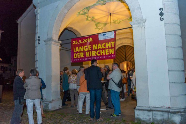 Zeigen, was Kirche alles ist und zur Auseinandersetzung anregen: An der «Langen Nacht der Kirchen» vom 28. Mai 2018 im Kanton Aargau. | © 2018 Werner Rolli